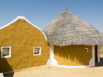 Colored Indian lodges. Stock Photography