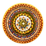 Traditional colored pottery. Painted ceramic plate Royalty Free Stock Photography