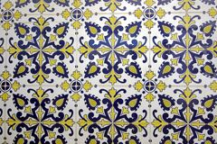 Traditional colored tiles from Portugal. Traditional blue-white colored tiles from Portugal Royalty Free Stock Images