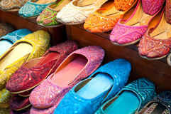 Traditional colorful Arabic slippers Stock Image
