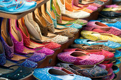 Traditional colorful Arabic slippers Royalty Free Stock Image