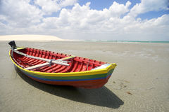 Traditional Colorful Brazilian Fishing Boat Jericoacoara Brazil Royalty Free Stock Images
