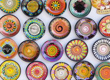 Traditional colorful ceramic souvenir, Bulgaria Stock Images