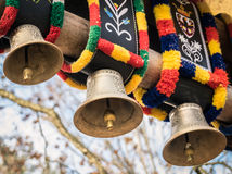 Traditional colorful cow bells. Stock Photography