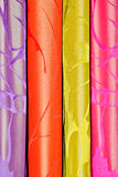 Traditional colorful curtains Royalty Free Stock Photos