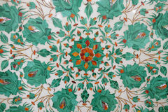Traditional colorful floral marble tabletops for sale, Agra Royalty Free Stock Photography