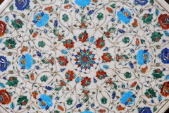 Traditional colorful floral marble tabletops for sale, Agra Stock Images