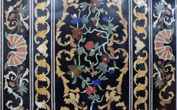 Traditional colorful floral marble tabletops for sale, Agra Royalty Free Stock Images