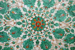 Traditional colorful floral marble tabletops for sale, Agra Stock Image