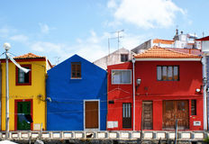 Traditional colorful houses in Aveiro royalty free stock photography