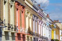 Traditional colorful houses in Camden Town district - London, United Kingdom Stock Image