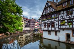 Traditional colorful houses in La Petite France, Strasbourg, Als Royalty Free Stock Images