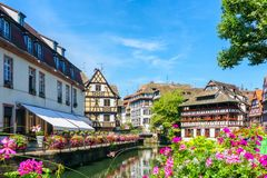 Traditional colorful houses in La Petite France, Strasbourg Royalty Free Stock Photography