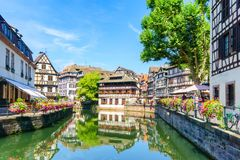 Traditional colorful houses in La Petite France, Strasbourg. Alsace, France Royalty Free Stock Photo