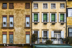 Traditional and Colorful Italian Buildings Royalty Free Stock Photos