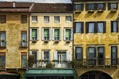 Traditional and Colorful Italian Buildings Stock Photos