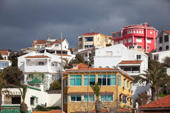 Traditional colorful living houses. Tangier, Morocco Royalty Free Stock Photo