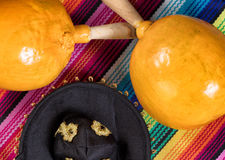 Traditional colorful objects for Cinco de Mayo holiday celebrati Royalty Free Stock Photo