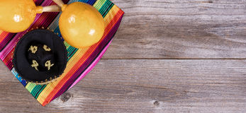 Traditional colorful objects for Cinco de Mayo holiday celebrati Stock Photos