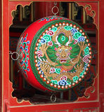 Traditional colorful prayer buddhist drum, Inner Mongolia Royalty Free Stock Photo