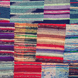 Traditional colorful rug textile Stock Photo