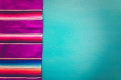 Fiesta. Traditional colorful table decorations for celebrating Fiesta Royalty Free Stock Photography