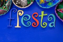 Fiesta. Traditional colorful table decorations for celebrating Fiesta