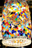 Traditional colorful Turkish glass lamp Royalty Free Stock Image