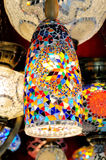 Traditional colorful Turkish glass lamp Royalty Free Stock Photo