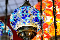 Traditional colorful Turkish glass lamps Royalty Free Stock Image