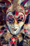 Traditional colorful Venetian mask Stock Photo