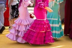 Traditional woman flamenco skirt Stock Photo