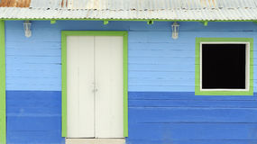 Traditional colorful wooden mexican house Stock Image