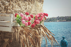 Traditional colors of Mediterranean sea Royalty Free Stock Image