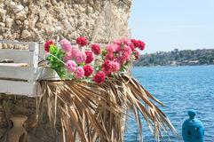 Traditional colors of Mediterranean sea Royalty Free Stock Photo