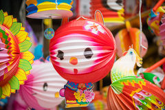 Traditional colour decorations in mid-autumn festival of Asia Royalty Free Stock Photos