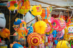 Traditional colour decorations in mid-autumn festival of Asia Stock Photo