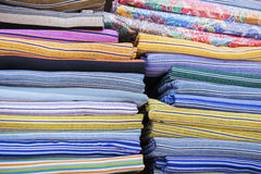 Traditional colourful sarong in the shop. for a background Stock Image