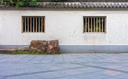 The traditional concrete fence of antique Chinese building Royalty Free Stock Photos