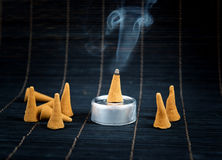 Traditional cone incense Royalty Free Stock Images