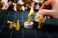 Traditional cone incense Royalty Free Stock Photos