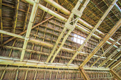 Traditional construction as the roof Royalty Free Stock Image