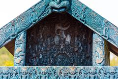The traditional construction of Maori for the storage of supplies, Rotorua, New Zealand royalty free stock image