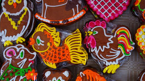 Traditional cookies. Traditional funny childish cookies in form of animals Royalty Free Stock Photos