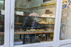 Traditional cookies in a pastry shop in Rome, Italy Royalty Free Stock Photo