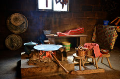 Traditional cooking in Mexico. Traditional cooking tortillas on a fire in Mexico Stock Photos