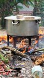 Traditional cooking style in large quantities Stock Image