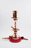 Traditional copper hookah royalty free stock images