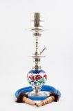 Traditional copper hookah stock image