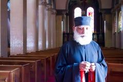 Traditional coptic priest stock photo